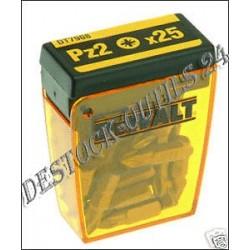 25 EMBOUTS DEWALT Pz2 25mm DT7908