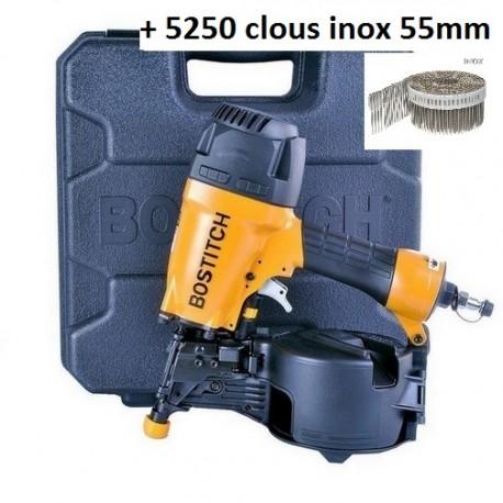 BOSTITCH N66C-2-E CLOUEUR PNEUMATIQUE 32/64mm 15° rouleaux métal/pvc