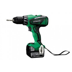 HITACHI DS14DBEL PERCEUSE VISSEUSE 2 x 5Ah Brushless + lampe torche UB18DAL