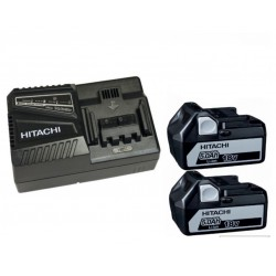 PACK HITACHI 18V 2 BATTERIES BSL1850 5Ah Li-ion + CHARGEUR UC18YFSL