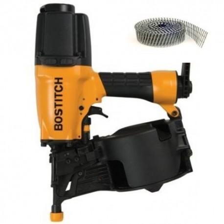 BOSTITCH N75C-2-E CLOUEUR BARDAGE + 3600 clous inox A4 2.5x64mm