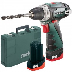 Perceuse visseuse Metabo PowerMaxx BS Basic 10.8v 2 x 2Ah