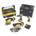 DEWALT DCK457M3T pack 4 outils 18v (3 x 4Ah)