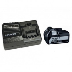 PACK HITACHI 18V BATTERIE BSL1850 5Ah Li-ion + CHARGEUR UC18YFSL
