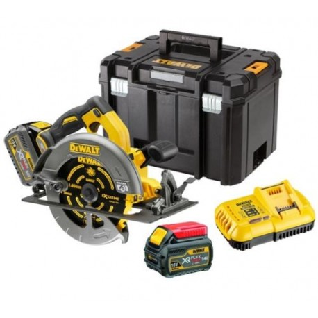 DEWALT DCS575T2 SCIE CIRCULAIRE 54V Flexvolt (2 x 6Ah) brushless 190 mm reconditionnée