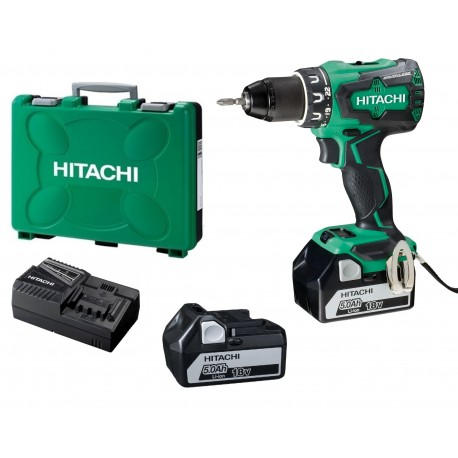 PERCEUSE VISSEUSE HITACHI DS18DBSL brushless (2 x 5Ah) 18v 70Nm