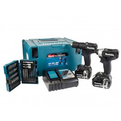 MAKITA DHP483 + DTD155 (2 x 5Ah) perceuse + visseuse à choc brushless 18v