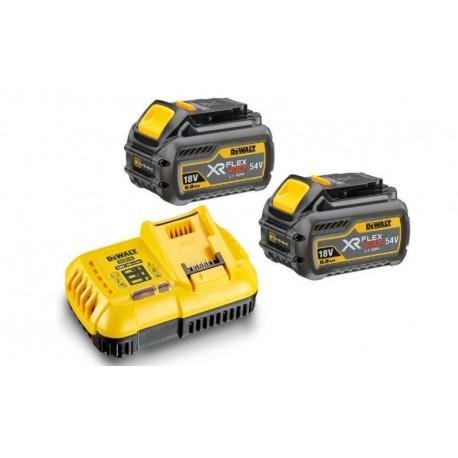 DEWALT DCB118T2 54V 2 batteries DCB547 + chargeur DCB118 Flexvolt