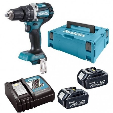 MAKITA DHP484 (2 x 5Ah) perceuse visseuse brushless 18v Li-ion