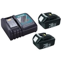 Chargeur rapide Makita DC18RC + 2 batteries 18v BL1840B 4Ah Li-ion LXT