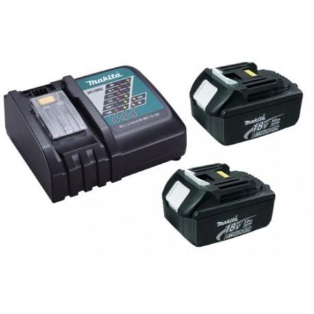 Chargeur rapide Makita DC18RC + 2 batteries 18v BL1830 3Ah Li-ion LXT
