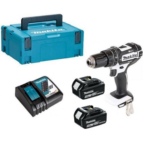 PERCEUSE VISSEUSE PERCUSSION MAKITA DHP482 2 BATTERIES 3AH BL1830 18V LI-ION