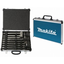 COFFRET MAKITA 17 PIECES FORETS ET BURINS SDS Plus