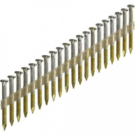 1000 clous d'ancrage 4 x 40 mm 20° galva