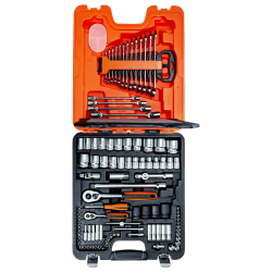 BAHCO S106 COFFRET 106 PIECES DOUILLES/CLES MIXTES/CLIQUET 1/4 et 1/2
