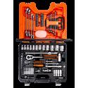 BAHCO S910 Coffret 92 pièces douilles/clés mixtes/cliquets 1/4 et 1/2