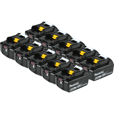 10 BATTERIES ORIGINALES MAKITA BL1860B LI-ION 18V 6Ah LXT témoin de charge