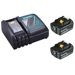 Chargeur rapide Makita DC18RC + 2 batteries 18v BL1860B 6Ah Li-ion LXT