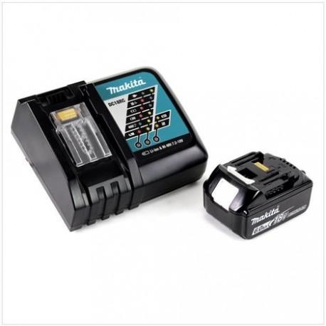 Chargeur rapide Makita DC18RC + 1 batterie 18v BL1860B 6Ah Li-ion LXT