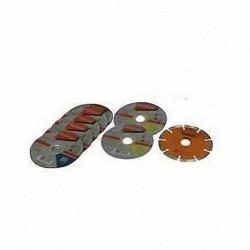 9 disques Makita 125mm meuleuse (1 diamant béton/2 inox,/6 métaux)