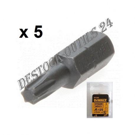 dewalt 5 embouts impact vis torx t30 25mm sp cial visseuse. Black Bedroom Furniture Sets. Home Design Ideas