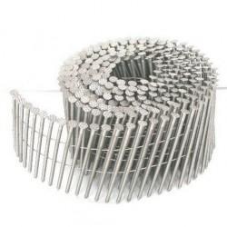7200 POINTES CLOUS ROULEAUX PLATS 15/16° 2.5 x 65 Spiralées Acier brut