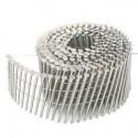 7200 POINTES CLOUS ROULEAUX PLATS 15/16° 2.5 x 65 Annelées Electro-galva