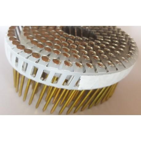 5250 CLOUS ROULEAUX PLATS 15/16° 2.5 x 55 crantés Inox A4 Bombée liaison pvc